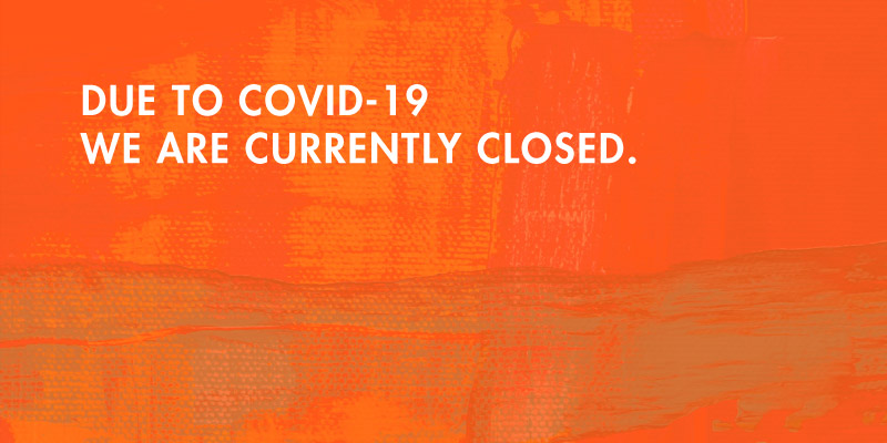 Covid-19 Closure Update on orange background